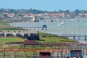 pontons sur l'estuaire