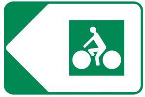 panneau véloroute